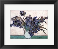 Framed Irises in Vase, c.1890