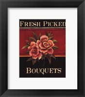 Fresh Picked Bouquets - Mini Framed Print
