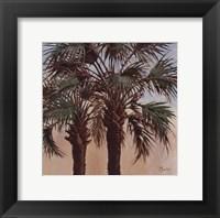 Twin Palms - Mini Framed Print
