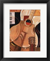 Abstract Guitar - Mini Framed Print