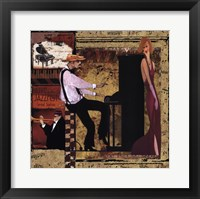 Framed Jazz Piano - Mini
