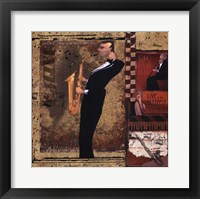 Framed Jazz Sax - Mini