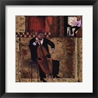 Jazz Cello - Mini Framed Print