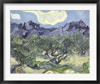 Framed Olive Trees, c.1889 (blue & green)