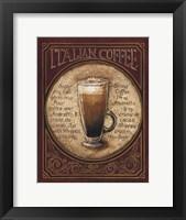 Italian Coffee - Mini Framed Print