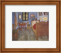 Framed Bedroom at Arles, c.1887