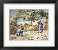 Framed First Steps (after Millet), c.1890