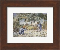 Framed First Steps (after Millet), c.1890