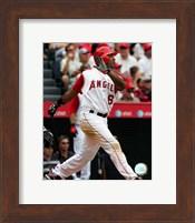 Framed Garret Anderson - 2007 Batting Action