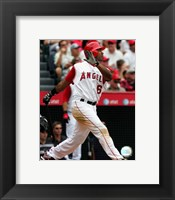 Framed Garret Anderson - 2007 Batting Action