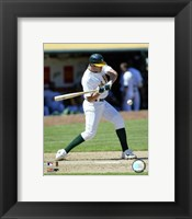 Framed Bobby Crosby - 2007 Batting  Action