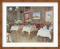 Framed Interior of a Restaurant, c.1888