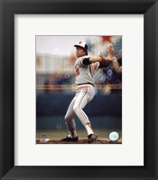 Framed Jim Palmer - Pitching Action