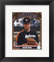 Framed Nolan Ryan - Studio Plus (Astros)