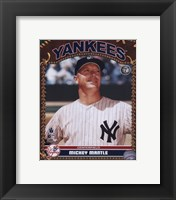 Framed Mickey Mantle - Studio Plus
