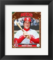 Framed Johnny Bench - 2007 Vintage Studio Plus