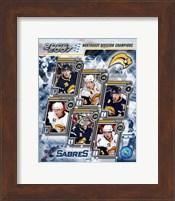Framed '06 / '07 Sabres Eastern Division Champions Composite