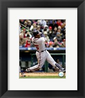 Framed Andruw Jones - 2007 Batting Action