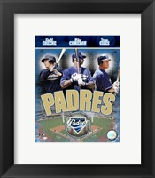 Framed Padres 2007 - Big 3 Hitters