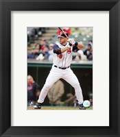 Framed Travis Hafner - 2007 Batting Action