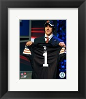 Framed Brady Quinn - 2007 NFL Draft Day