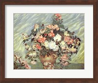 Framed Pink and White Roses