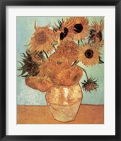 Framed Vase with Twelve Sunflowers, c.1888