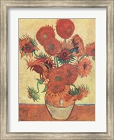 Framed Vase with Fifteen Sunflowers, c.1888