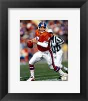 Framed John Elway Orange Uniform Action