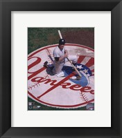 Framed Mickey Mantle - Knelling in Batting Circle