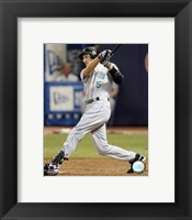 Framed Rocco Baldelli - 2007 Batting Action