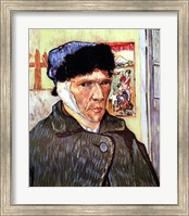 Framed Self-Portrait with Bandaged Ear, c.1889