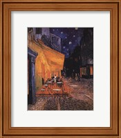 Framed Cafe Terrace on the Place du Forum, Arles, at Night, c.1888