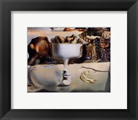 Apparition of Face and Fruit Dish on a Beach, c.1938 Framed Print