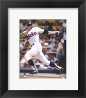 Framed Carlton Fisk - Batting Action (White Sox)