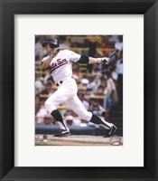 Framed Carlton Fisk - Batting Action (White Sox)