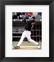 Framed A.J. Pierzynski - 2007 Batting Action