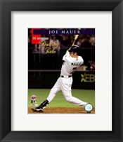 Framed Joe Mauer - 2006 A.L. Batting Title