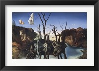 Framed Swans Reflecting Elephants, c.1937