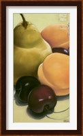 Framed Pear, Apricots & Cherries