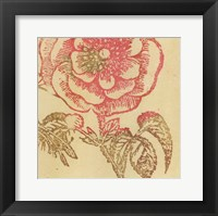 Framed Coral Rose