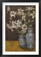 Framed Delft Lilies