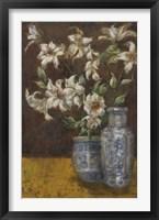 Framed Delft Lilies