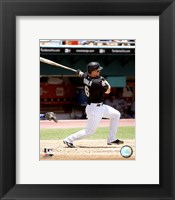 Framed Dan Uggla - 2007 Batting Action