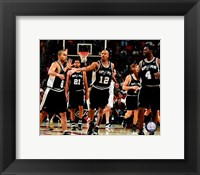 Framed Spurs Celebration - 2007 Finals / Game 3 (#8)