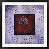 Framed Blue Silhouette II