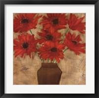 Framed Crimson Explosion I