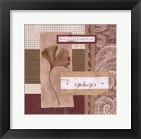 Framed Scrapbook Gingko Leaf