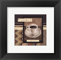 Framed Drinking Short Black Coffee