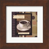 Framed Drinking French Vanilla Coffee